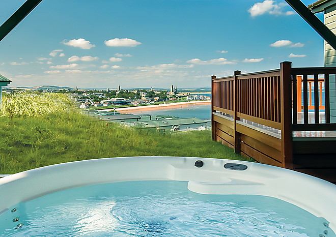 Lodges at St Andrews Holiday Park - each with a private hot tub
