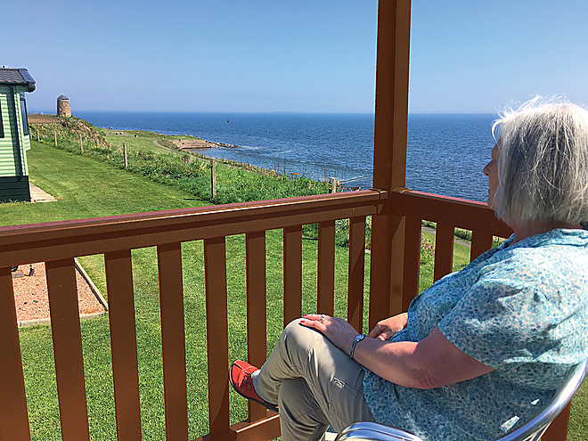 Spectacular sea views from the Castaway Vista holiday home at St Monans Holiday Park