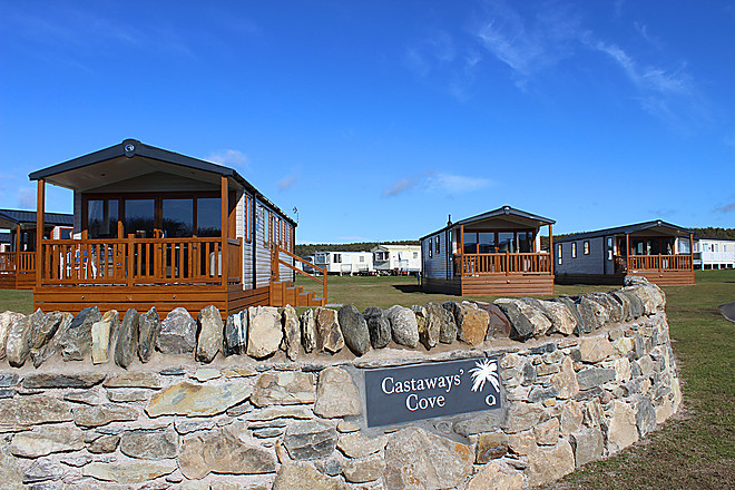 The Castaway (beach) holiday home - nestled behind the beach at Elie Holiday Park