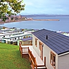Lodges at St Andrews Holiday Park with breathtaking views across St Andrews and East Sands Beach