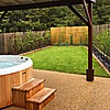 he Lodge at Elie Holiday Park with a private hot tub