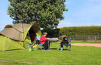 Tent pitches at St Monans Holiday Park