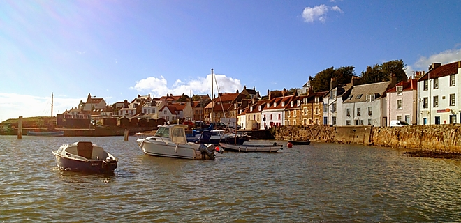 The quaint fishing village of St Monans