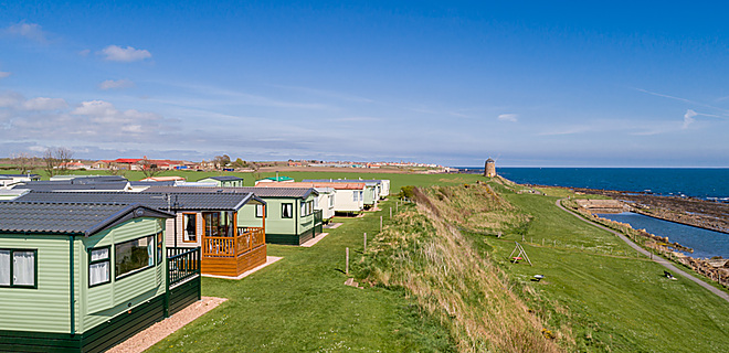 Fabulous sea views from St Monans Holiday Park