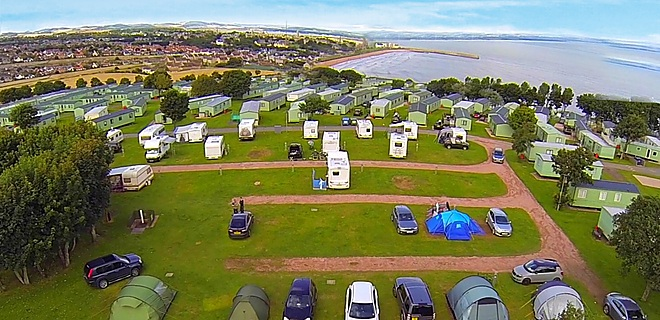 Spires View touring field, St Andrews Holiday Park