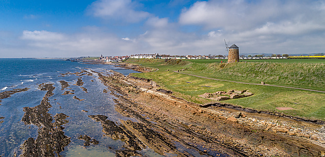 St Monans Holiday Park on the Fife Coastal Path