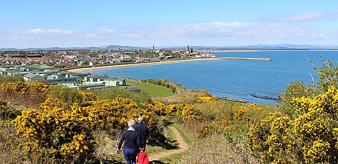 The Fife Coastal Path at St Andrews