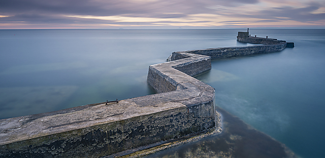 The famous zigzag pier at St Monans