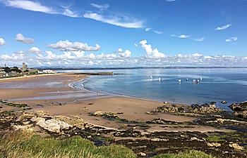 East Sands viewed from St Andrews Holiday Park