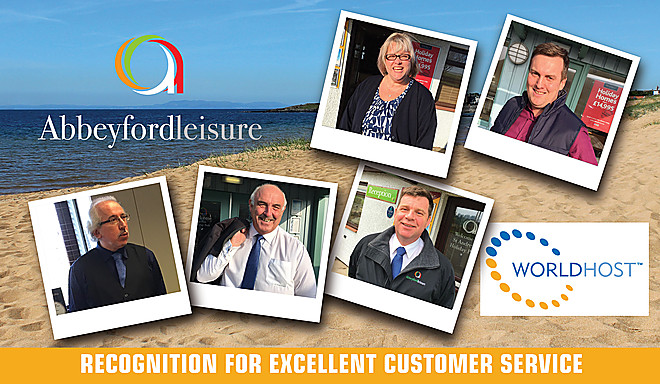 Abbeyford Leisure puts customers first and is awarded WorldHost Recognised Business status