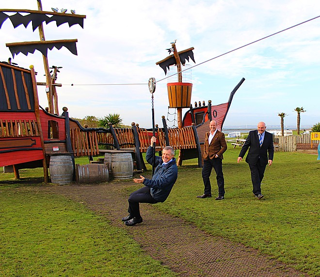 Willie Rennie zips along to Elie Holiday Park