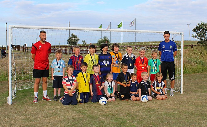 Summer soccer sizzler at Elie Holiday Park