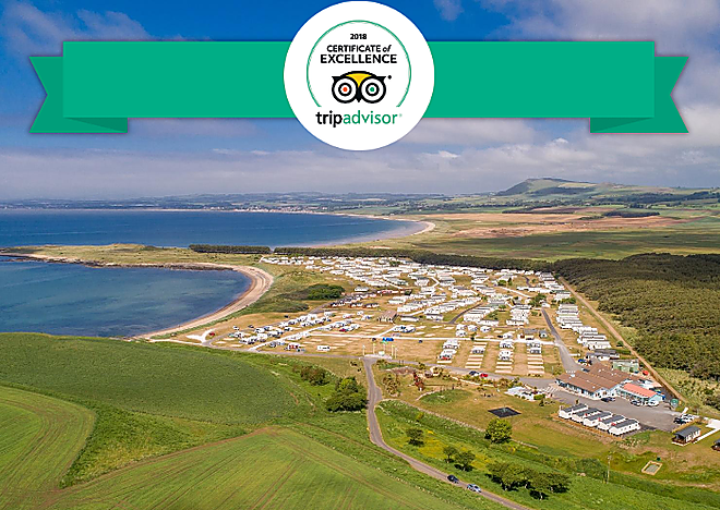 Trip Advisor awards Elie Holiday Park 2018 Certificate of Excellence