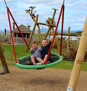New swings at Elie Holiday Park