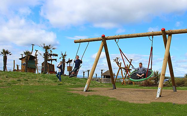 Swings at Elie Holiday Park