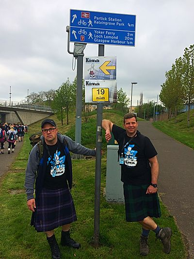 Team Abbeyford Kiltwalk 1