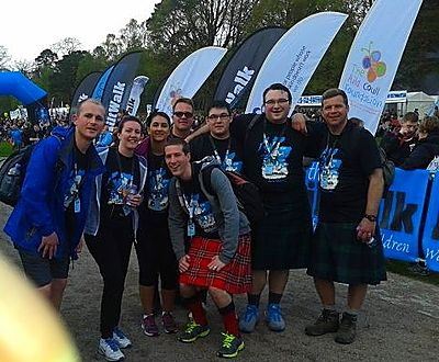 Team Abbeyford KiltWalk 6
