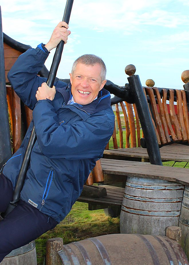 Willie Rennie MSP at Elie Holiday Park 2